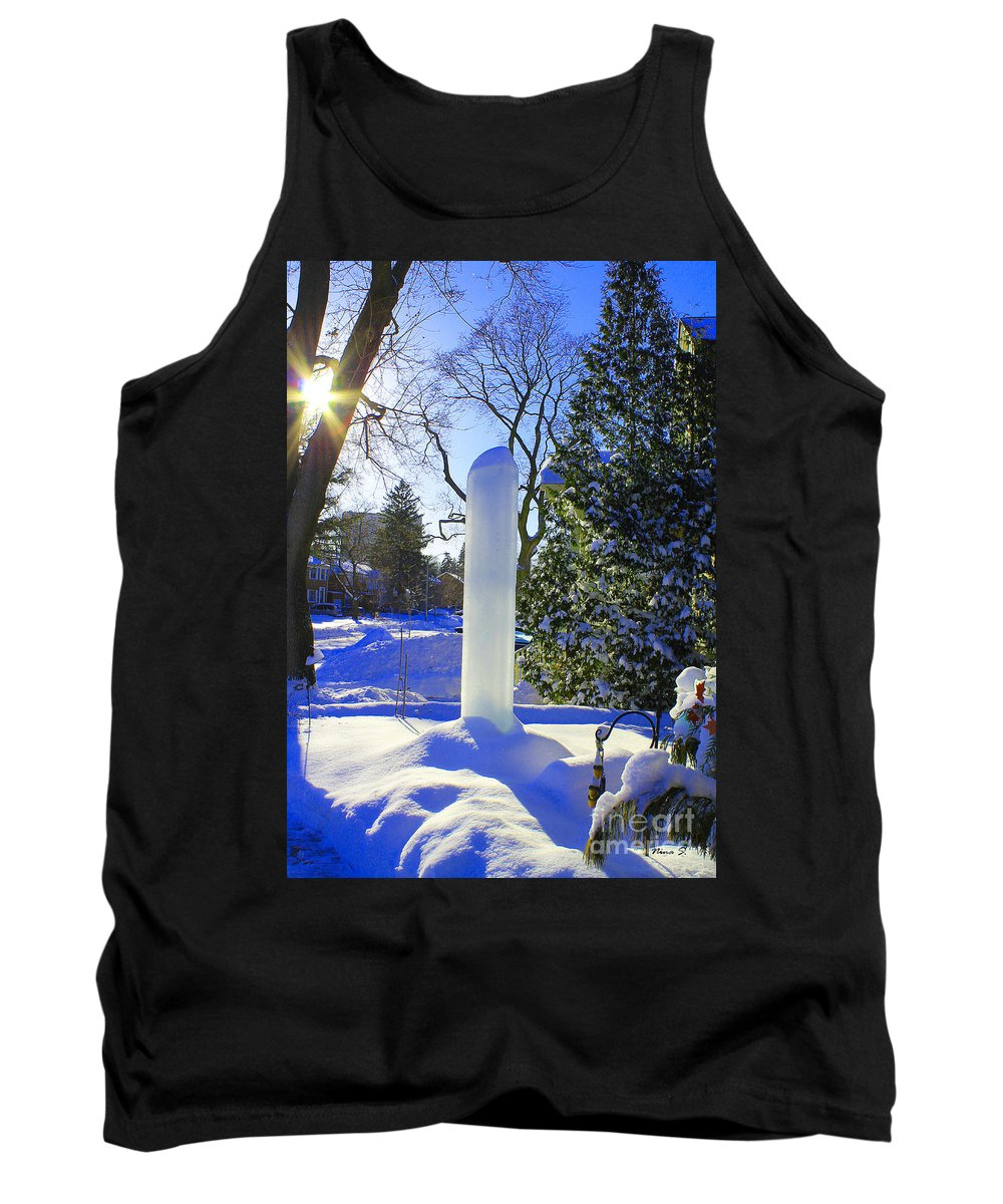 Homage Tank Top featuring the photograph Homage To Winter In The City by Nina Silver