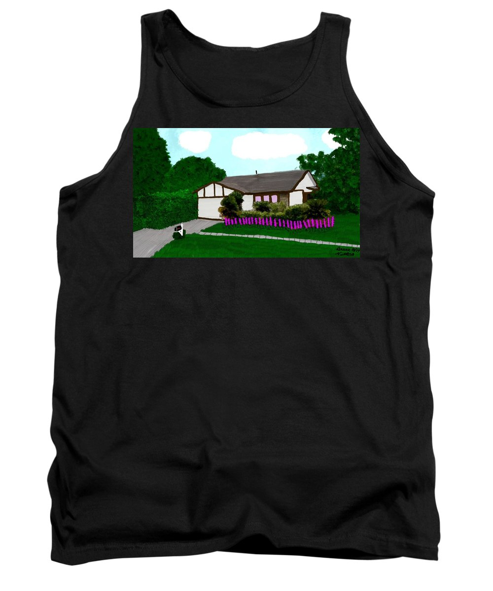 House Tank Top featuring the painting Home Of A Dear Friend by Bruce Nutting