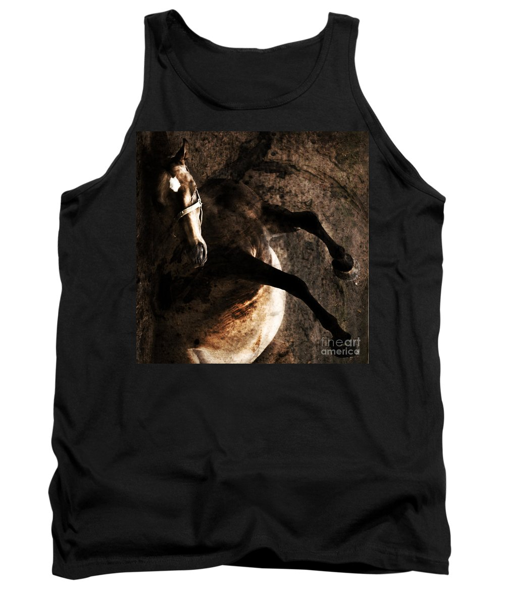 Horse Tank Top featuring the photograph Horse Art by Angel Ciesniarska