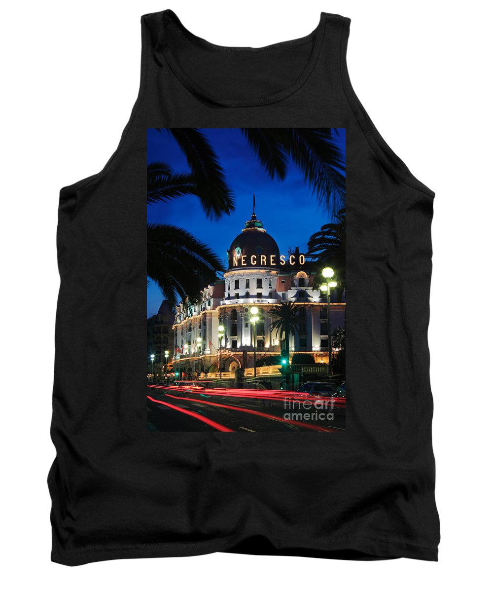 Cote D'azur Tank Top featuring the photograph Hotel Negresco by Inge Johnsson