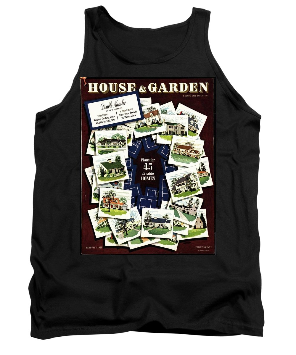House And Garden Tank Top featuring the photograph House And Garden Cover Featuring A Collage by Robert Harrer