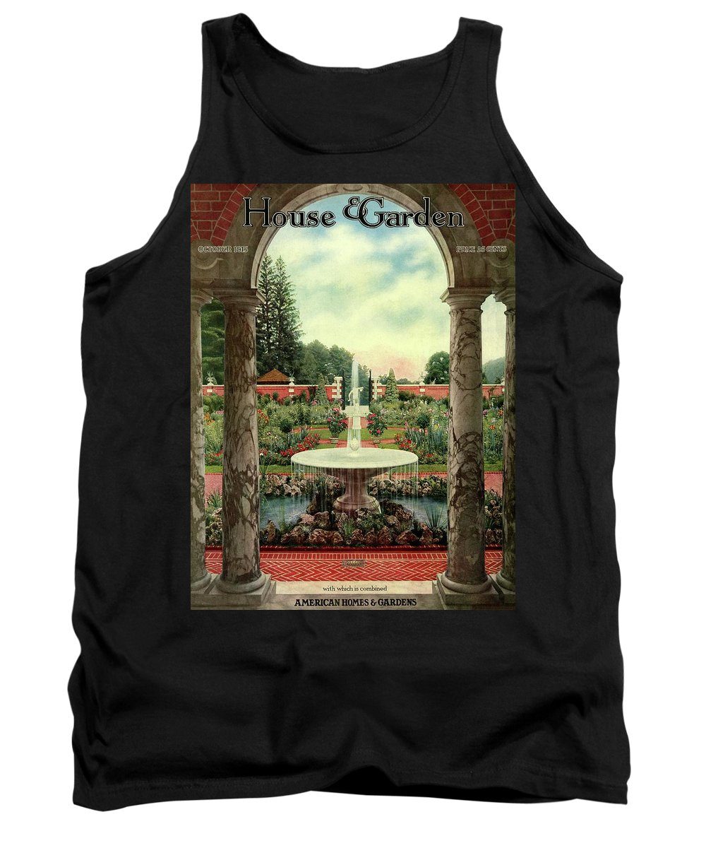 House And Garden Tank Top featuring the photograph House And Garden Cover by Herbert Angell