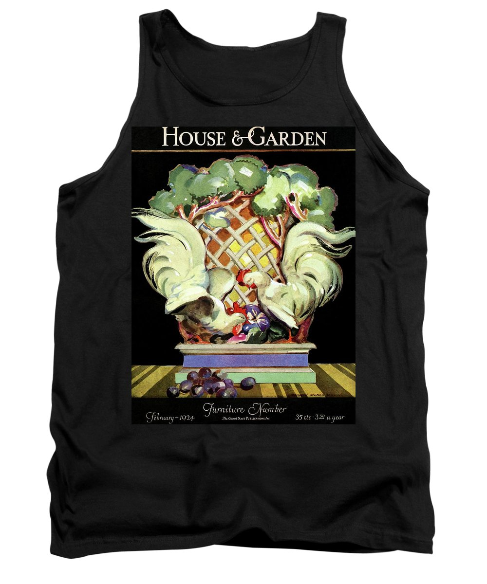 House And Garden Tank Top featuring the photograph House And Garden Furniture Number by Bradley Walker Tomlin