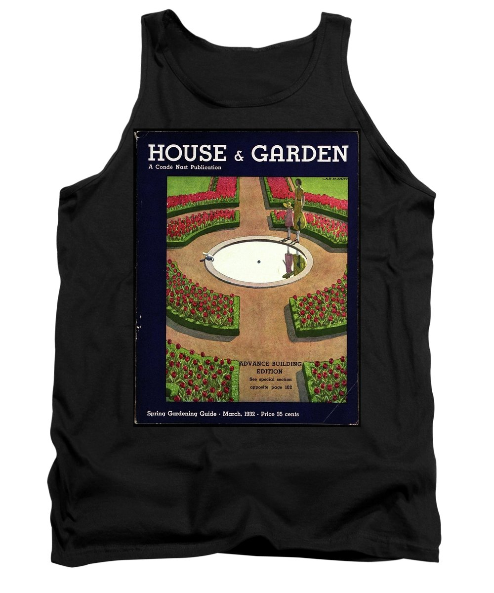 House And Garden Tank Top featuring the photograph House And Garden Spring Gardening Guide Cover by Andre E. Marty