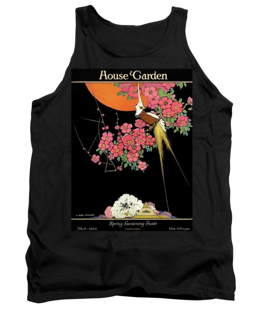 House And Garden Tank Top featuring the photograph House And Garden Spring Gardening Guide by H. George Brandt