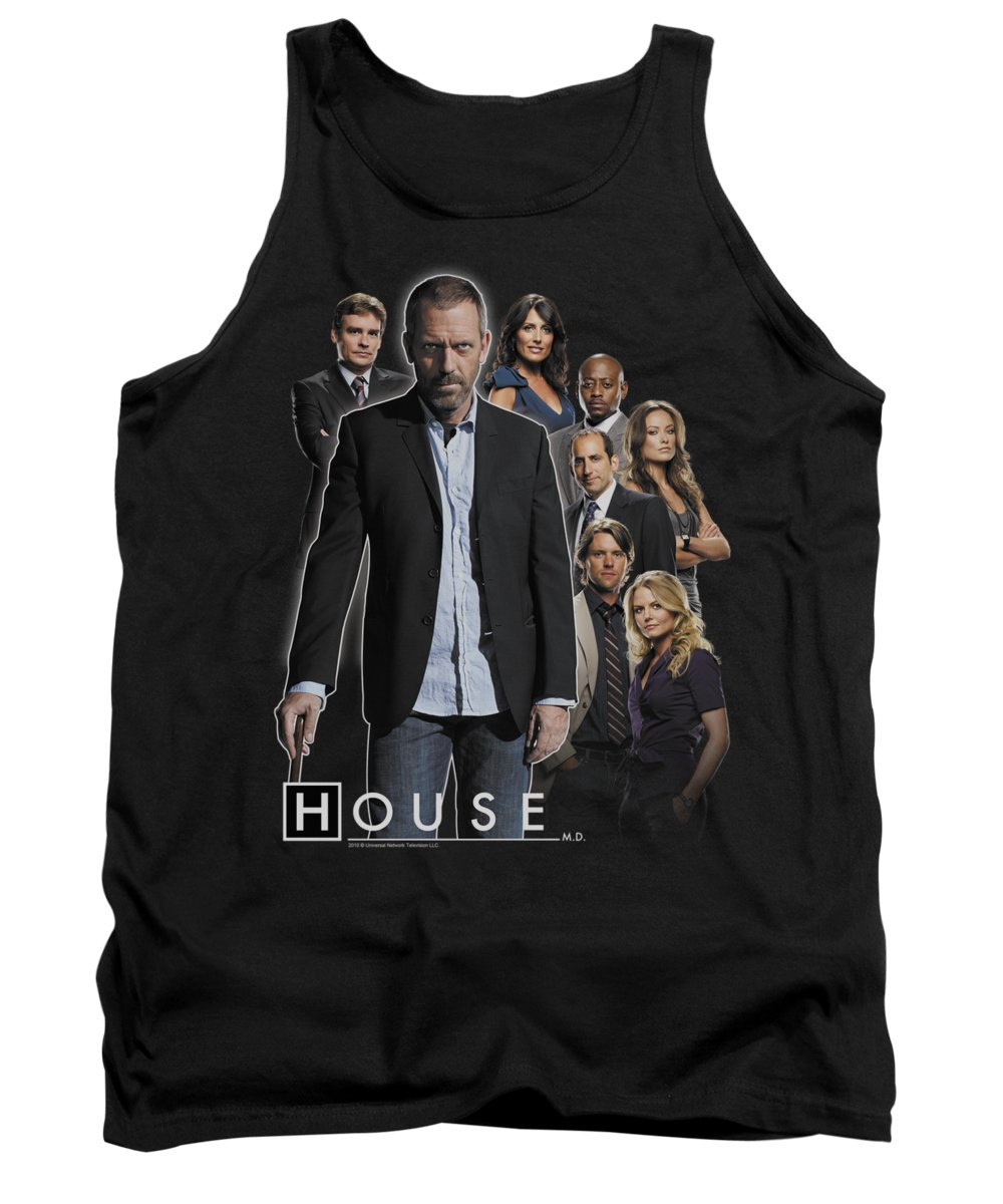 House Tank Top featuring the digital art House - Crew by Brand A