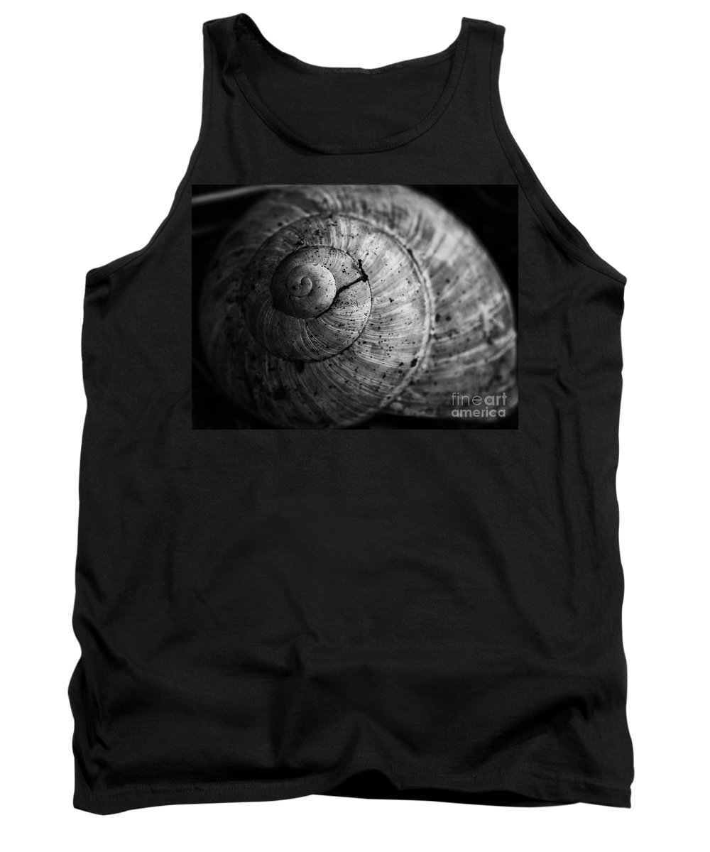 Escargot Snail Shell Tank Top featuring the photograph House For Sale by Brothers Beerens
