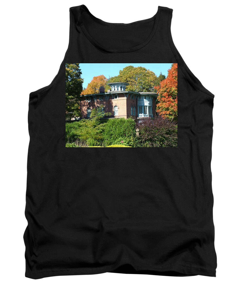 Autumn Tank Top featuring the photograph House Surrounded By Autumn by Geoffrey McLean