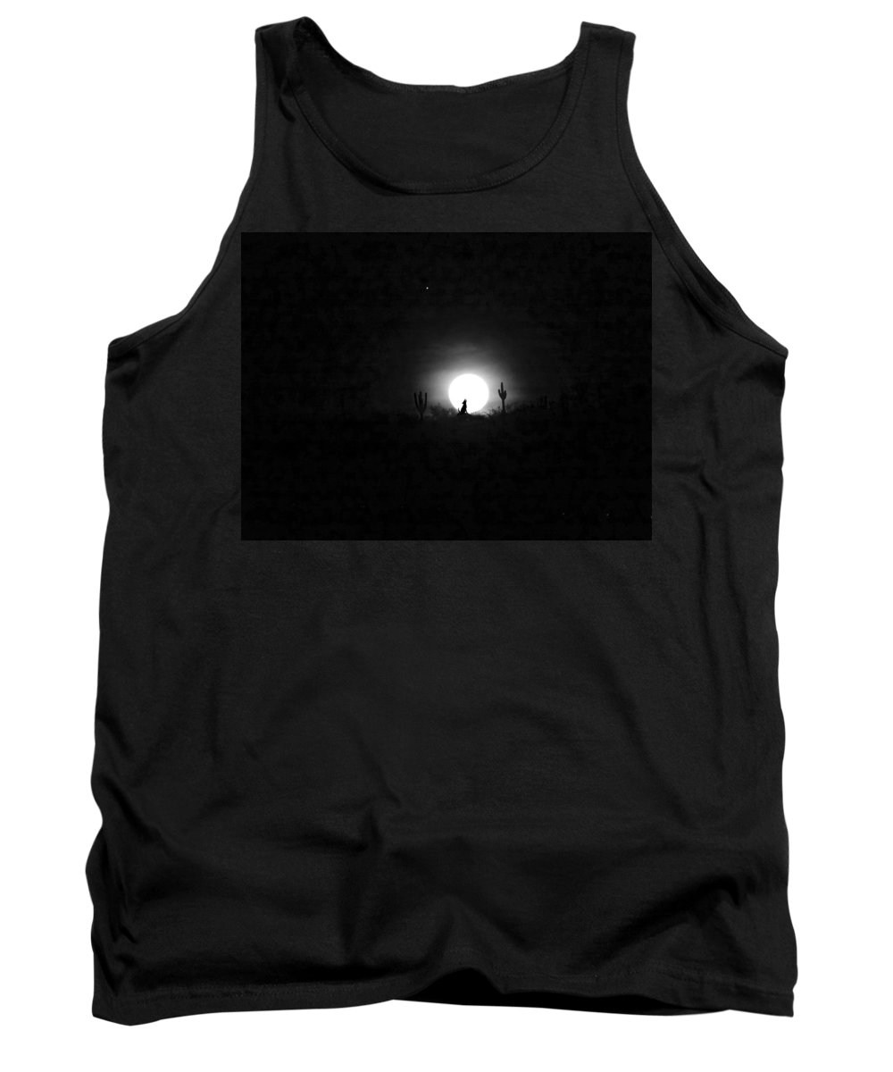 Anne Mott Tank Top featuring the photograph Howling At The Moon by Anne Mott