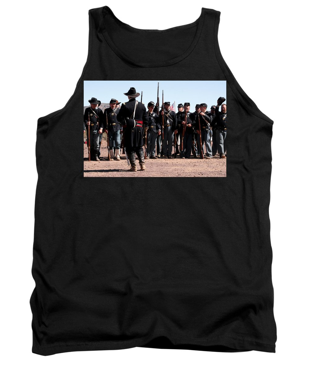 Troops Tank Top featuring the photograph Huzah For The Union by Joe Kozlowski