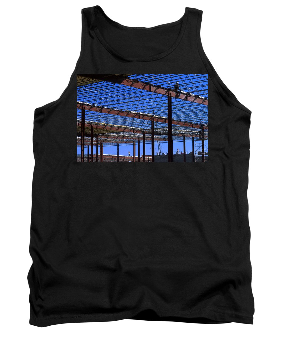 Steel Tank Top featuring the photograph I Beams And Sweat by Jerry McElroy