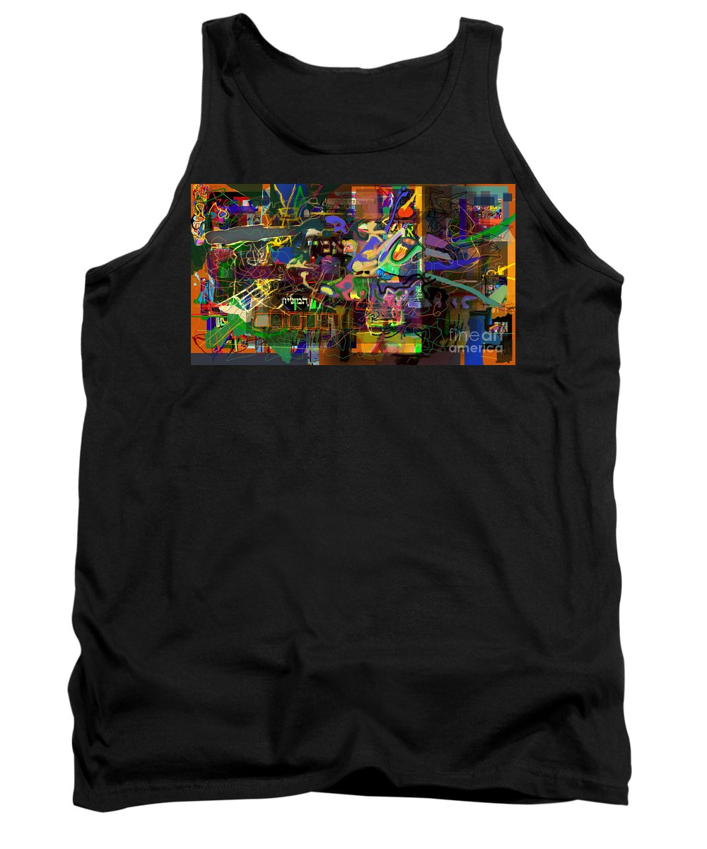 Redemption Tank Top featuring the digital art I Believe In The Coming Of Mashiach 32 by David Baruch Wolk