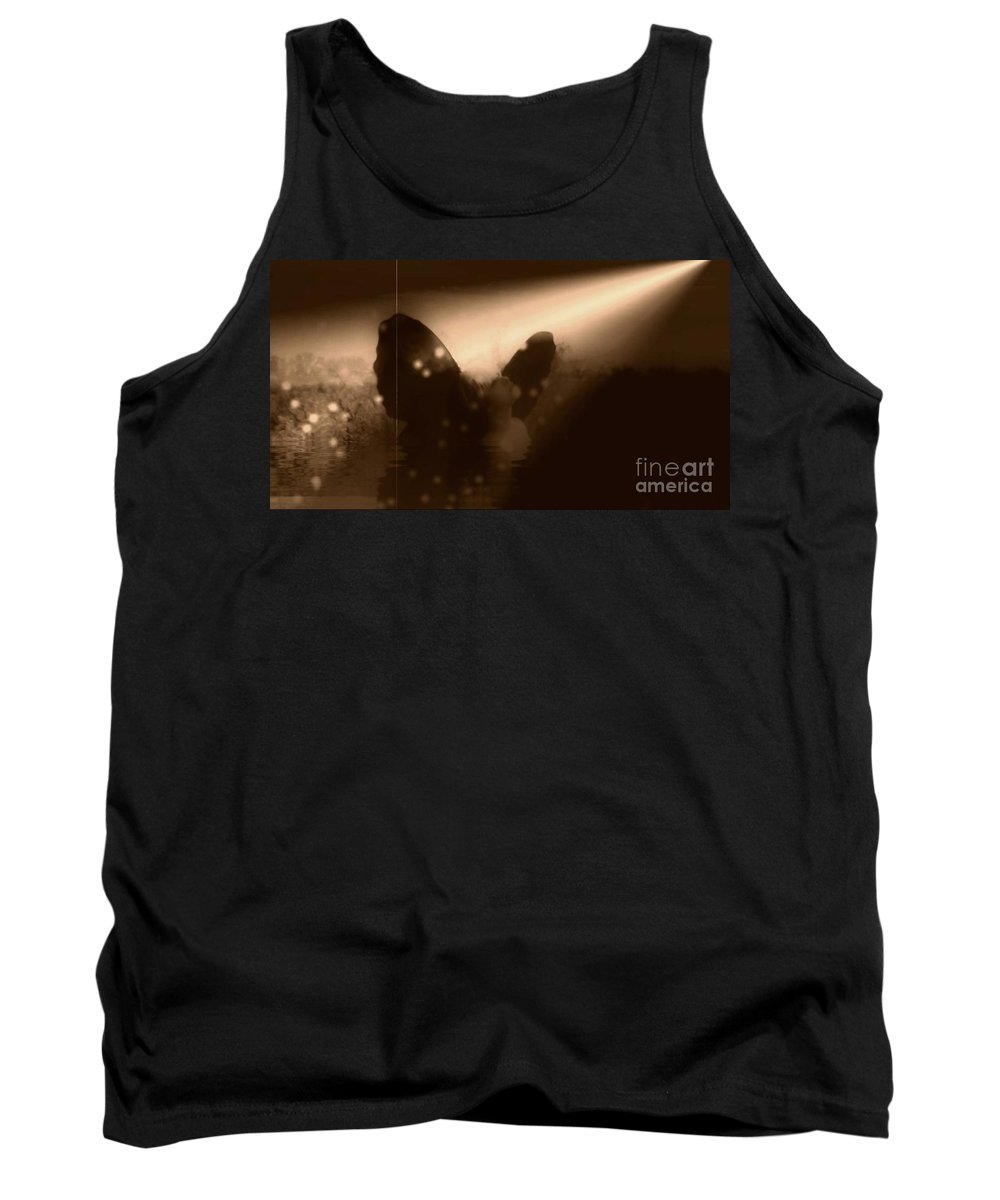 Sepia Tank Top featuring the photograph I Found The Light by Jessica Shelton