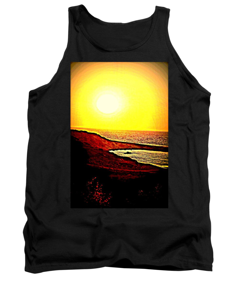 Sun Tank Top featuring the photograph I Hope I Will See You In The Morning by Hilde Widerberg