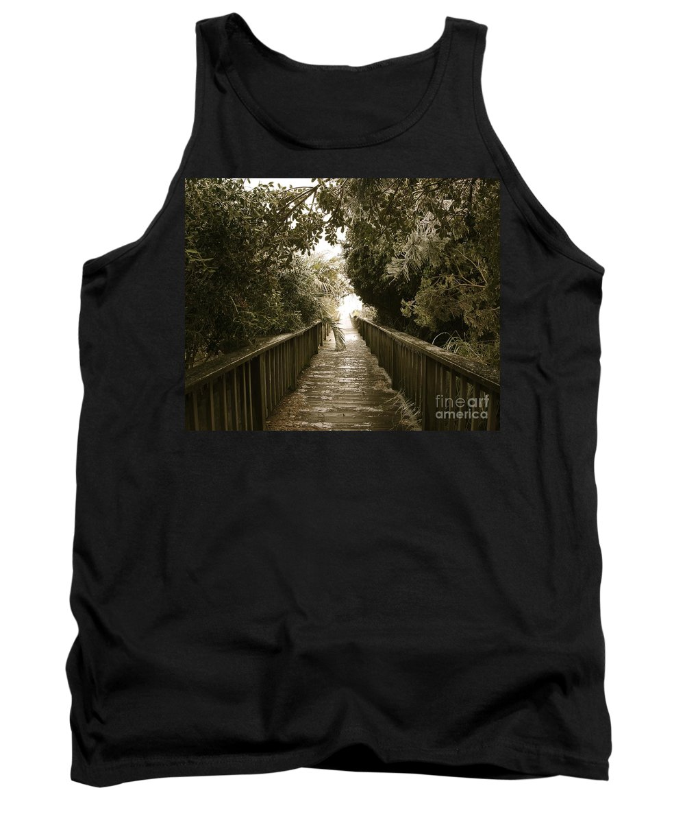 Ice Tank Top featuring the photograph Ice At The Beach by Joann Bristol
