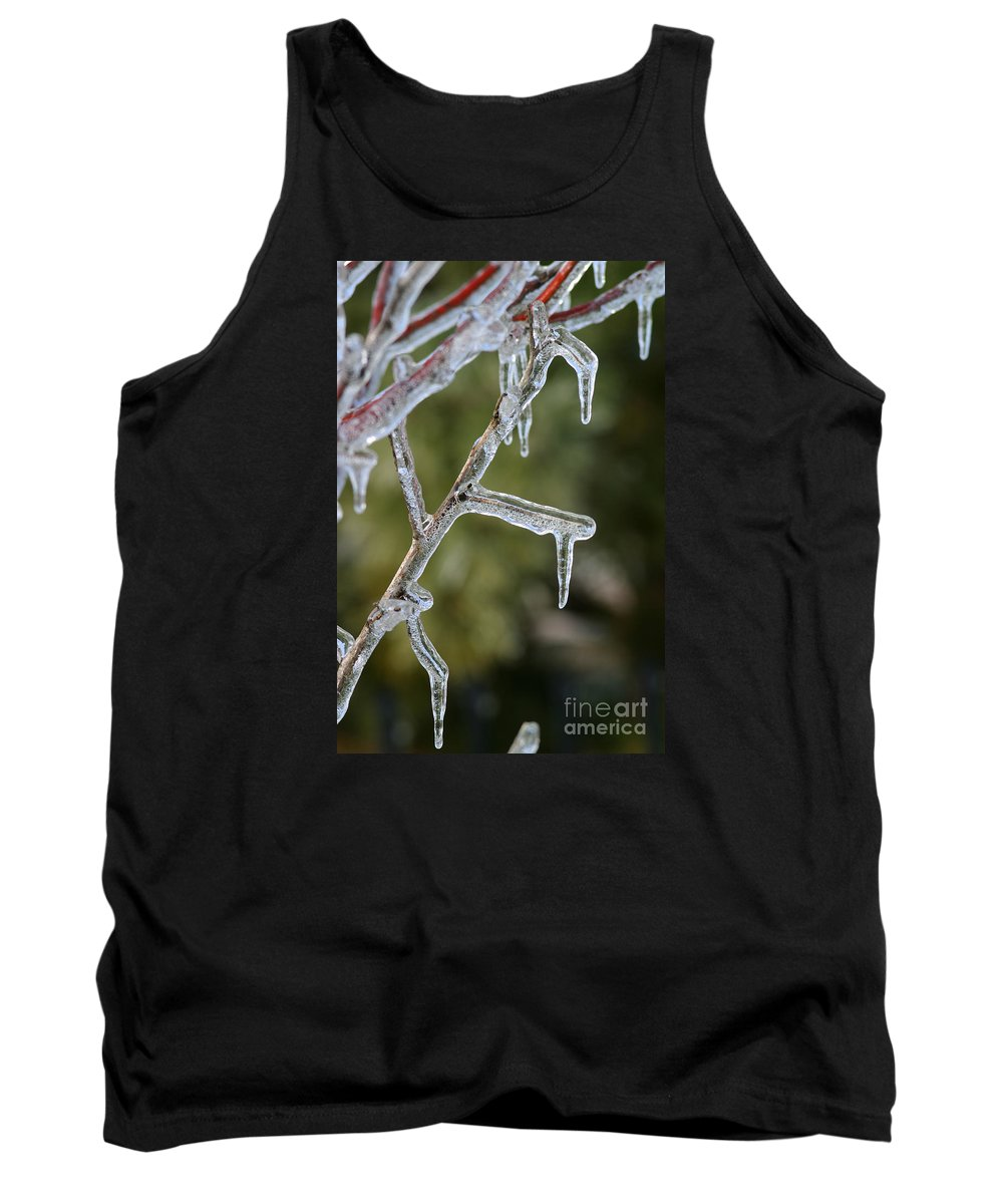 Ice Tank Top featuring the photograph Icy Branch-7506 by Gary Gingrich Galleries
