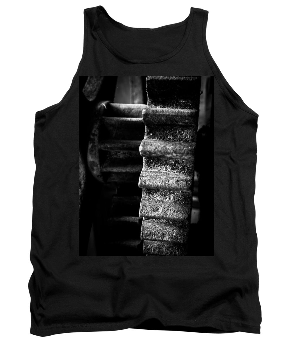 Cog Tank Top featuring the photograph Idle Cog by Kaleidoscopik Photography