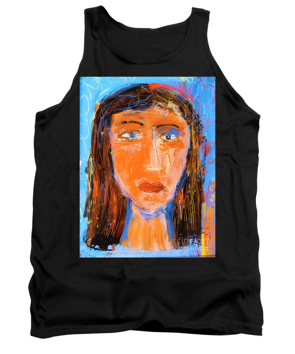 Portrait Tank Top featuring the painting Illuminate by Kate Marion Lapierre
