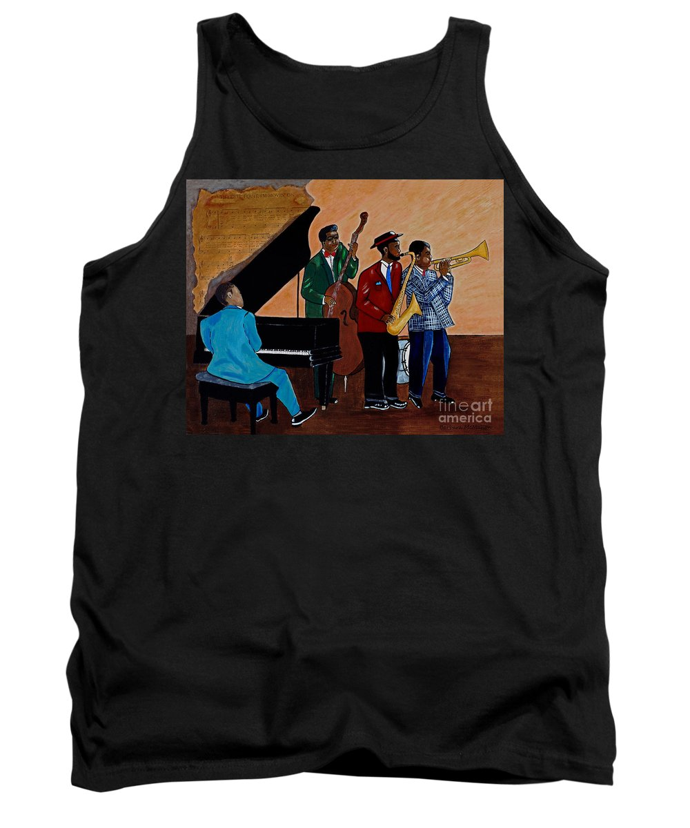 Jazz Tank Top featuring the painting Im Moving On by Barbara McMahon