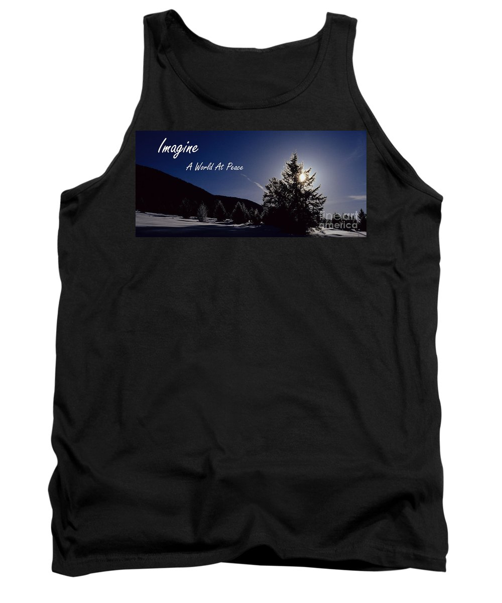 Imagine Tank Top featuring the photograph Imagine by Sharon Elliott