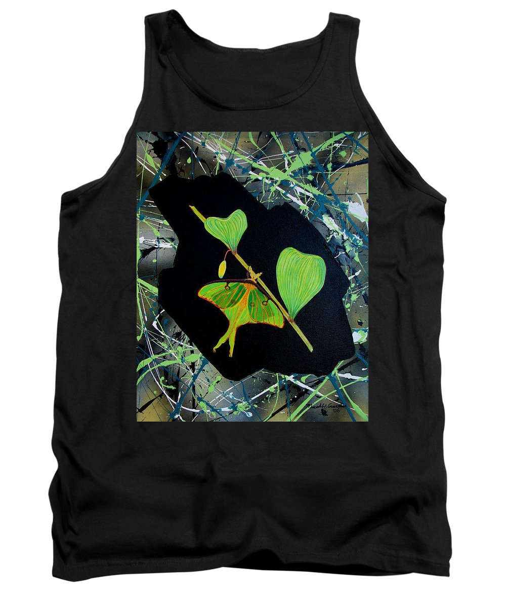Abstract Tank Top featuring the painting Imperfect IIi by Micah Guenther