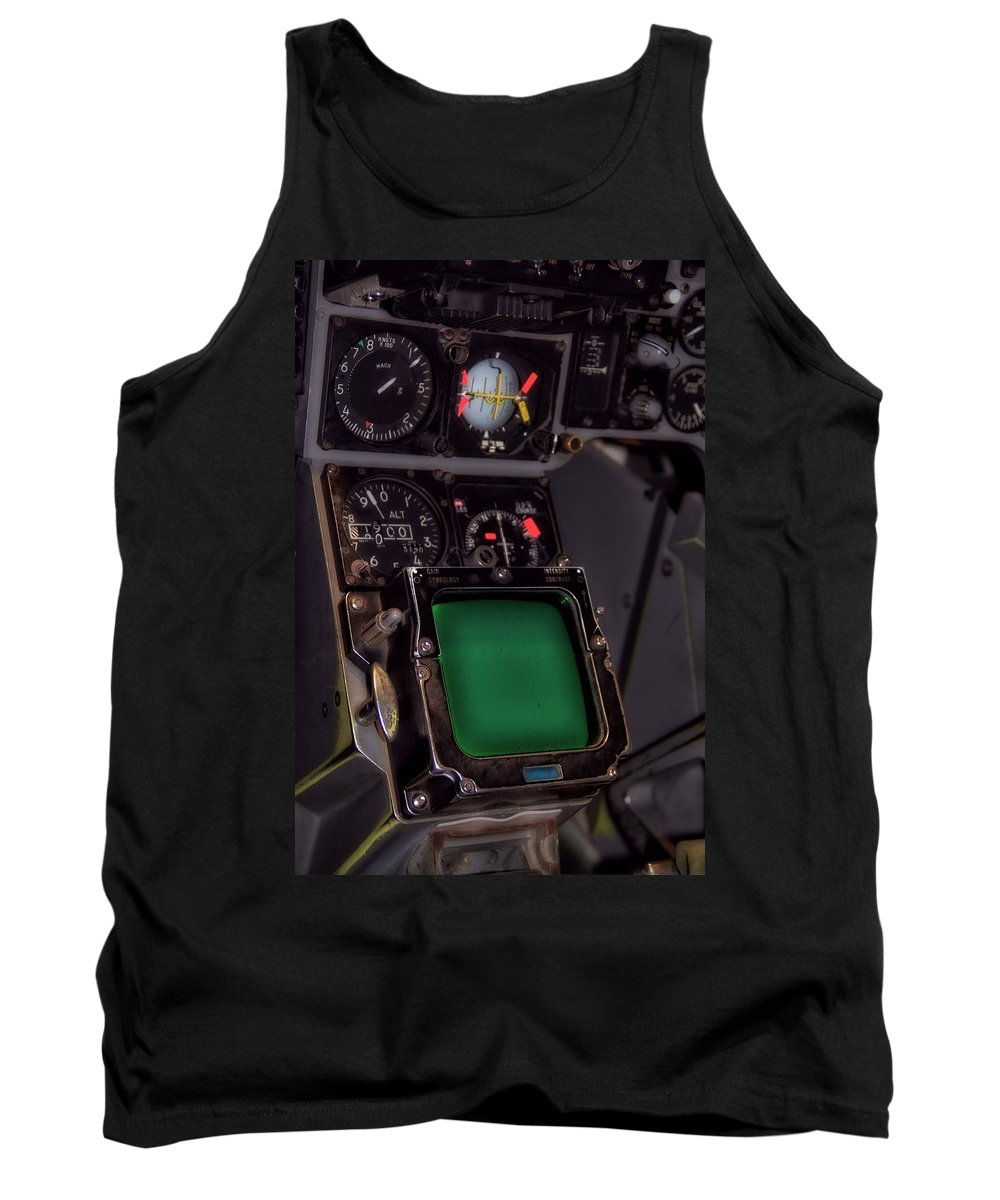 In The Cockpit Tank Top featuring the photograph In The Cockpit by Dan Sproul