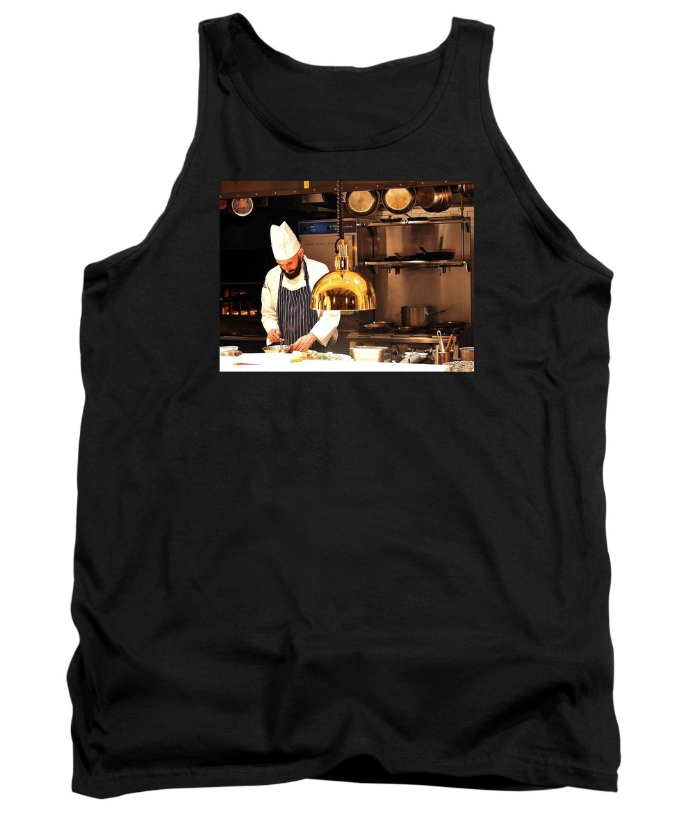 Restaurant Tank Top featuring the photograph In The Kitchen by William Morgan