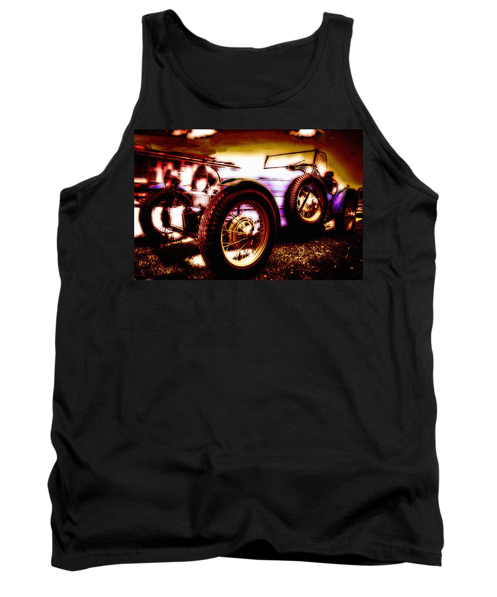 Car Tank Top featuring the photograph Wheels Of Time by Lyriel Lyra