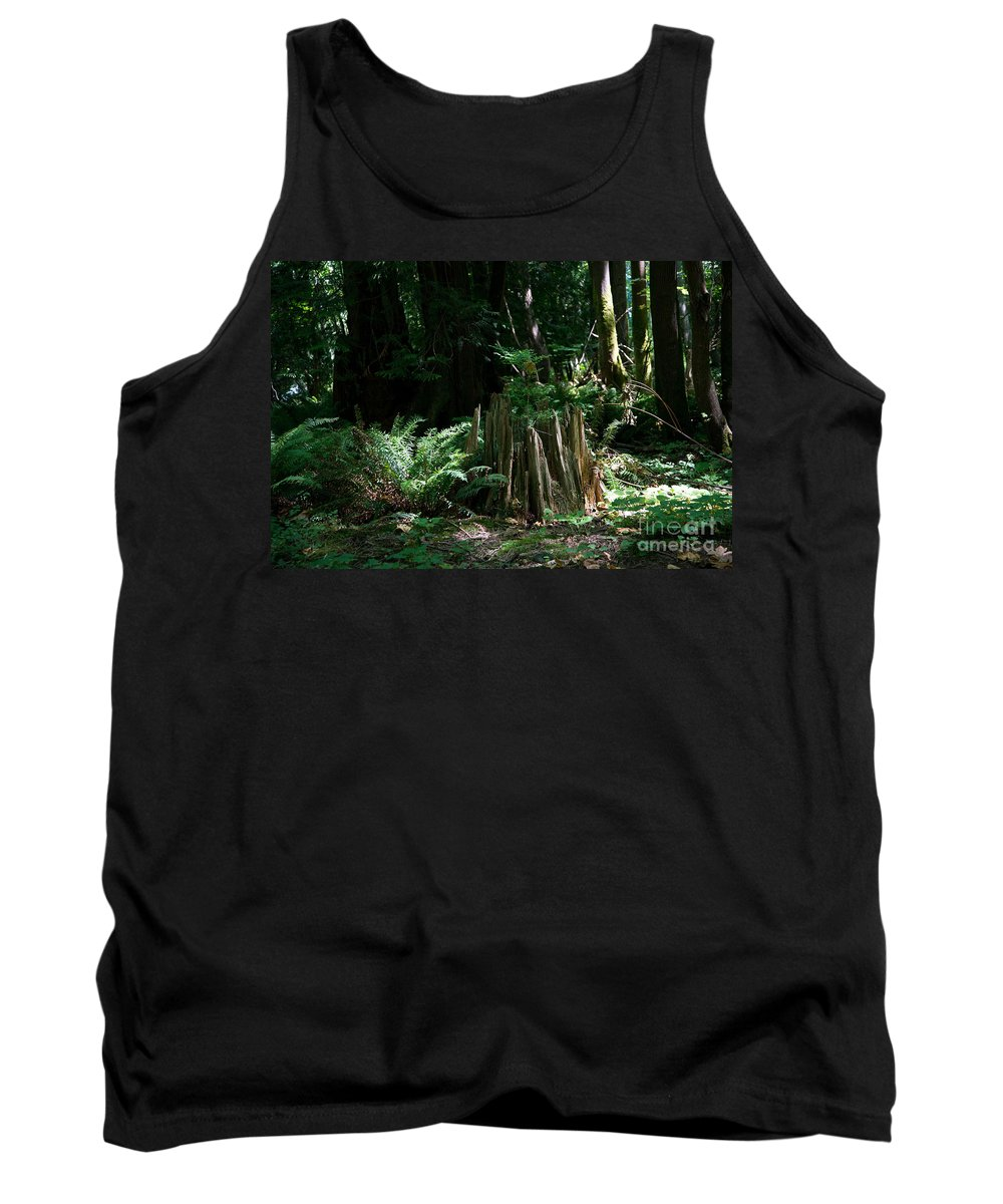 Bowen Island Tank Top featuring the digital art In The Woods by Carol Ailles