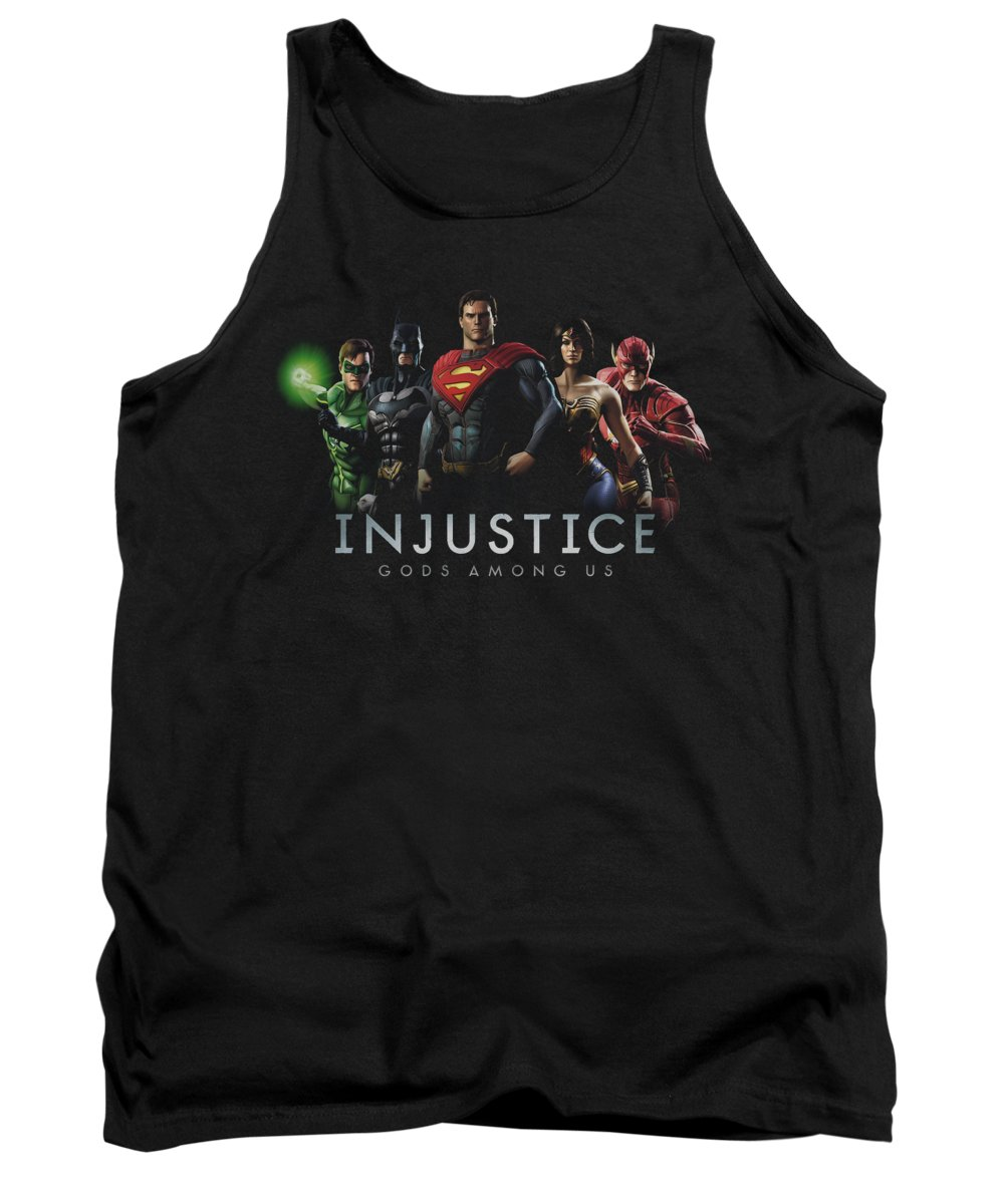 Comics Tank Top featuring the digital art Injustice Gods Among Us - Injustice League by Brand A