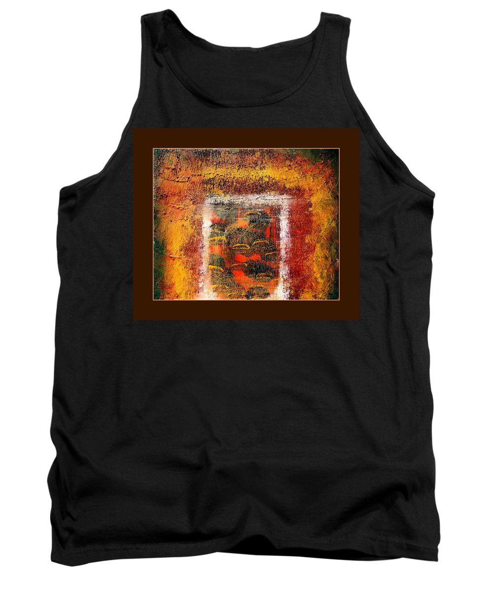Abstract Tank Top featuring the painting Inside The Manic Mind by Sue McElligott