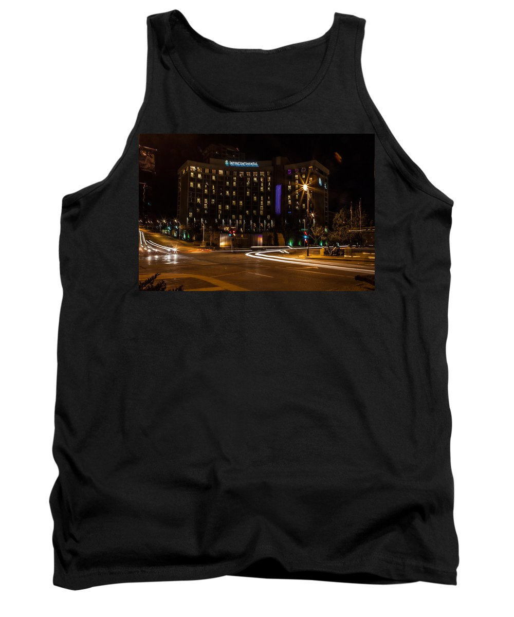 Slow Speed Tank Top featuring the photograph Intercontinental Hotel by Sennie Pierson