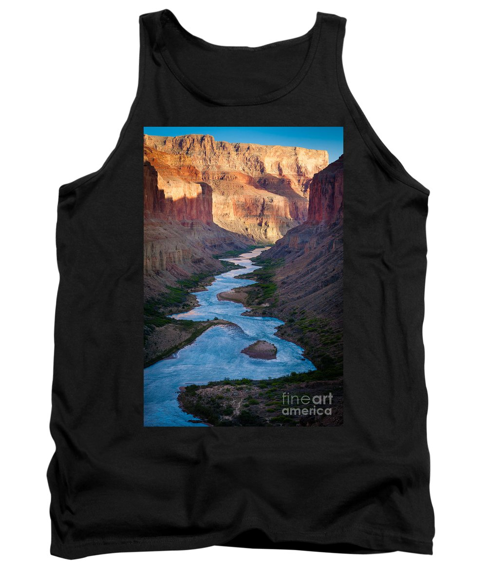 America Tank Top featuring the photograph Into The Canyon by Inge Johnsson