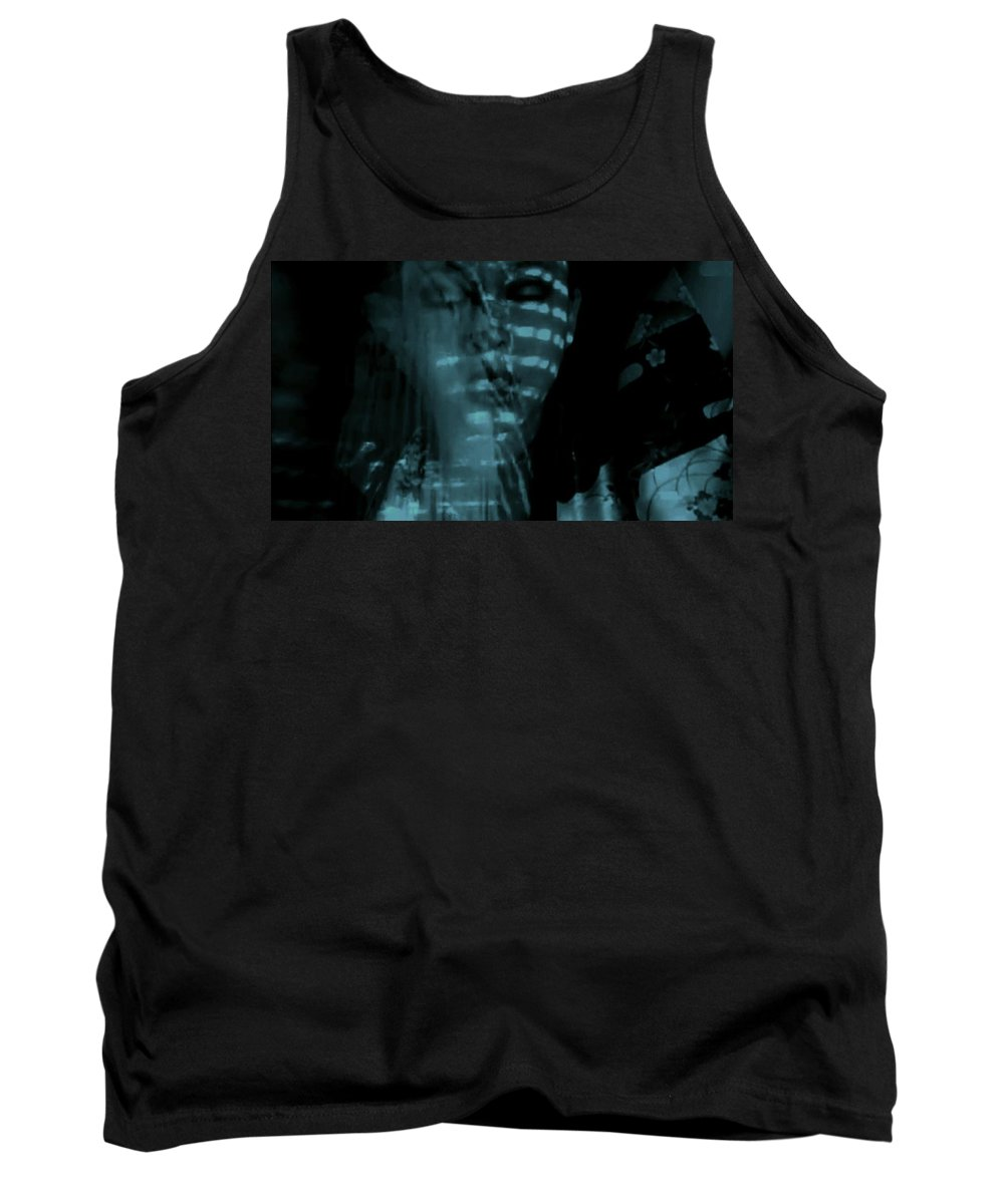Blue Shadows Women Black Fantasy Conceptual Tank Top featuring the photograph Into The Lull by Jessica Shelton