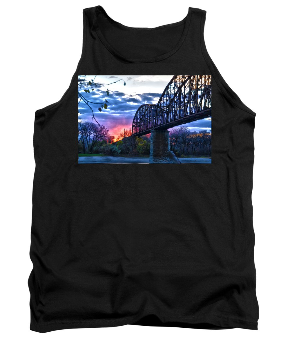 Bridge Tank Top featuring the photograph Into The Sun by Brian Metz