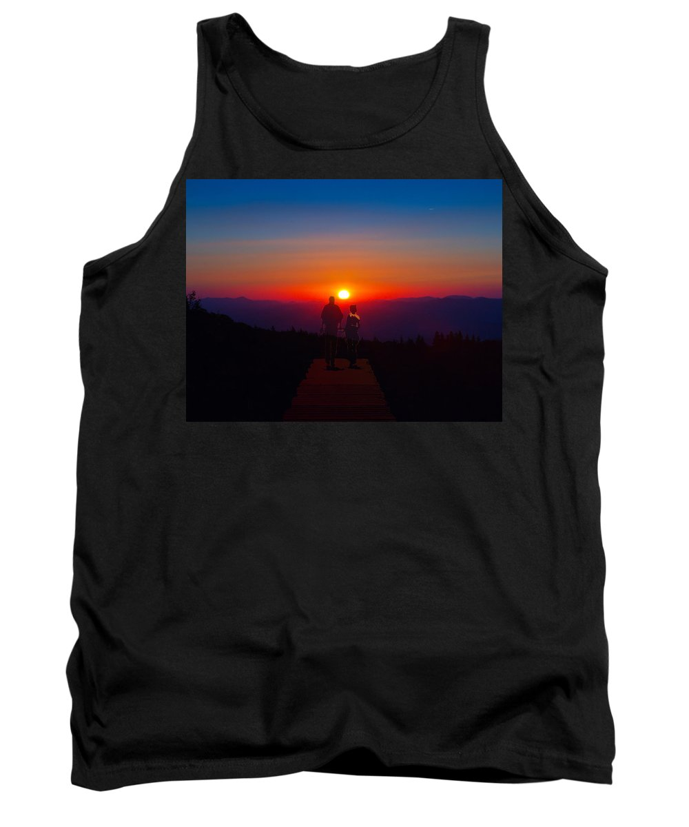 Sunset Tank Top featuring the photograph Into The Sunset Together by John Haldane