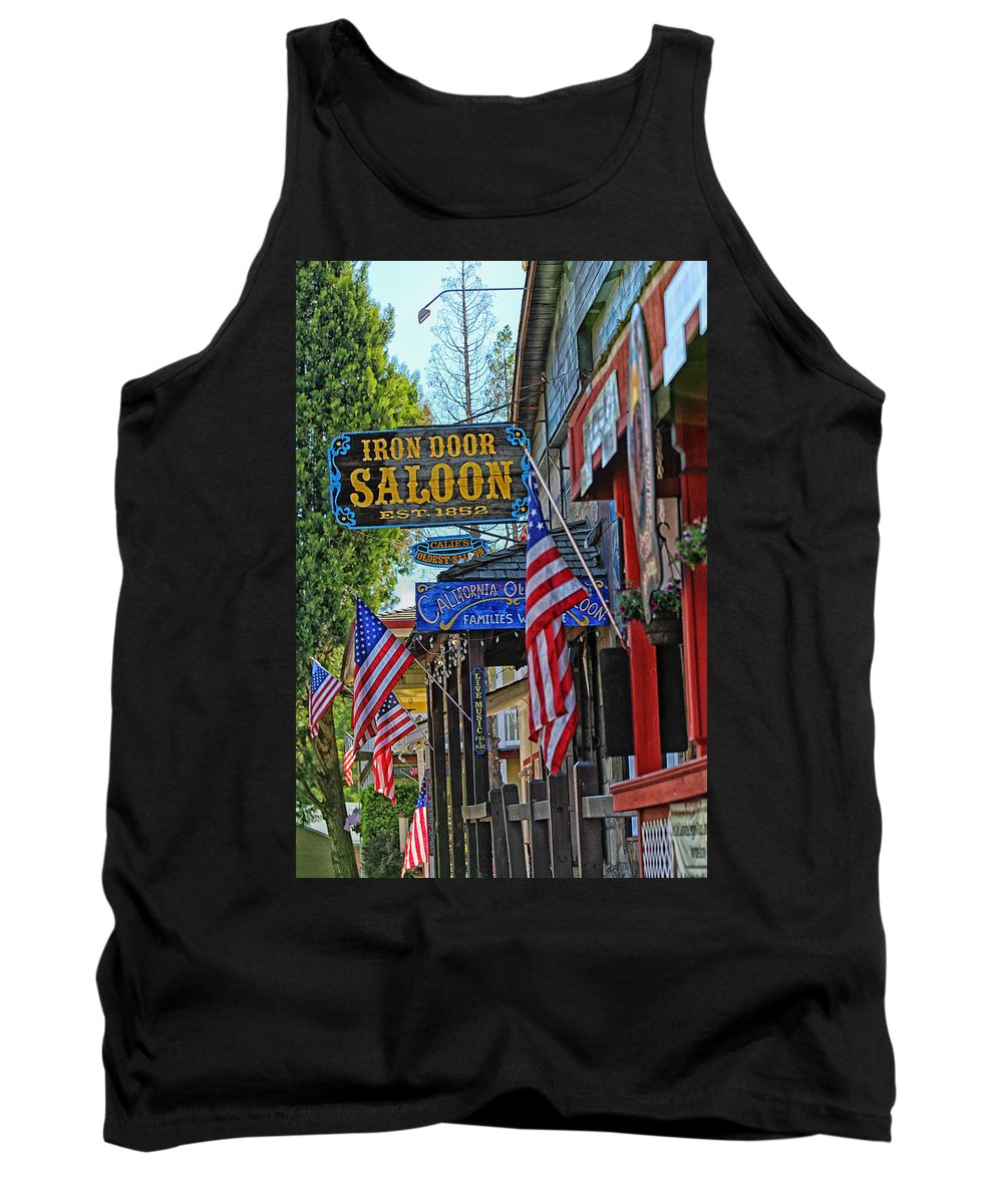 Iron Door Saloon Tank Top featuring the photograph Iron Door Saloon - The Oldest Saloon In California by Mountain Dreams