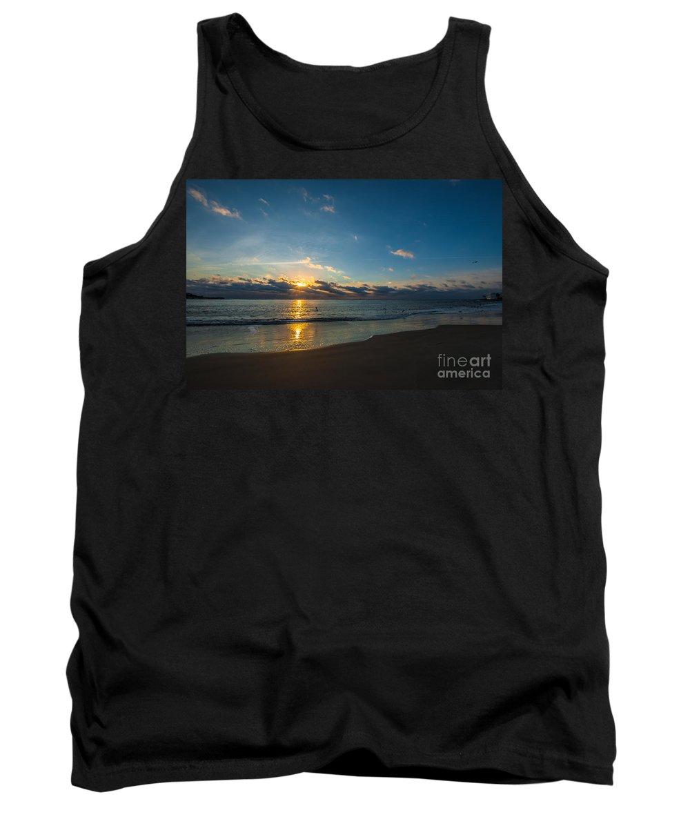 Sullivan's Island Tank Top featuring the photograph Coastal Beach Sunrise by Dale Powell