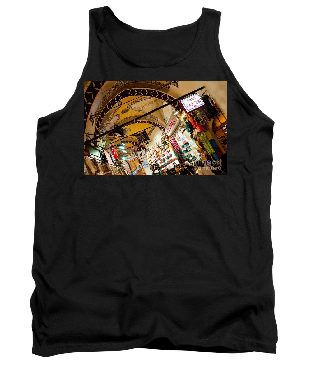 Istanbul Tank Top featuring the photograph Istanbul Grand Bazaar 11 by Rick Piper Photography