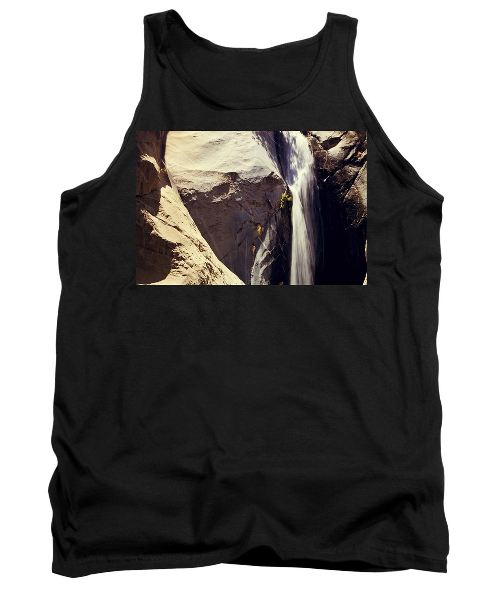 Waterfalls Tank Top featuring the photograph It Pours Down by Laurie Search
