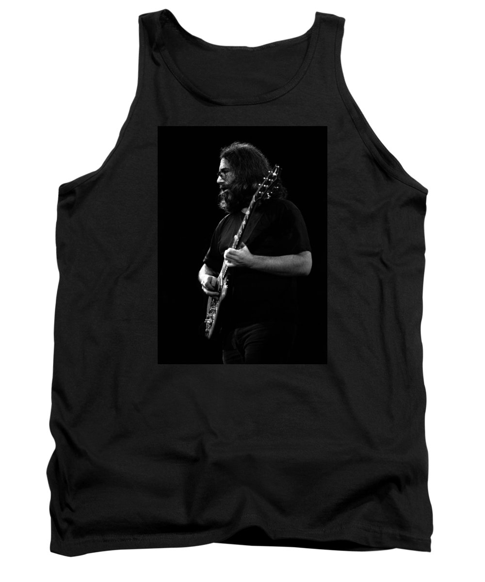 Jerry Garcia Tank Top featuring the photograph J G B #5 by Ben Upham