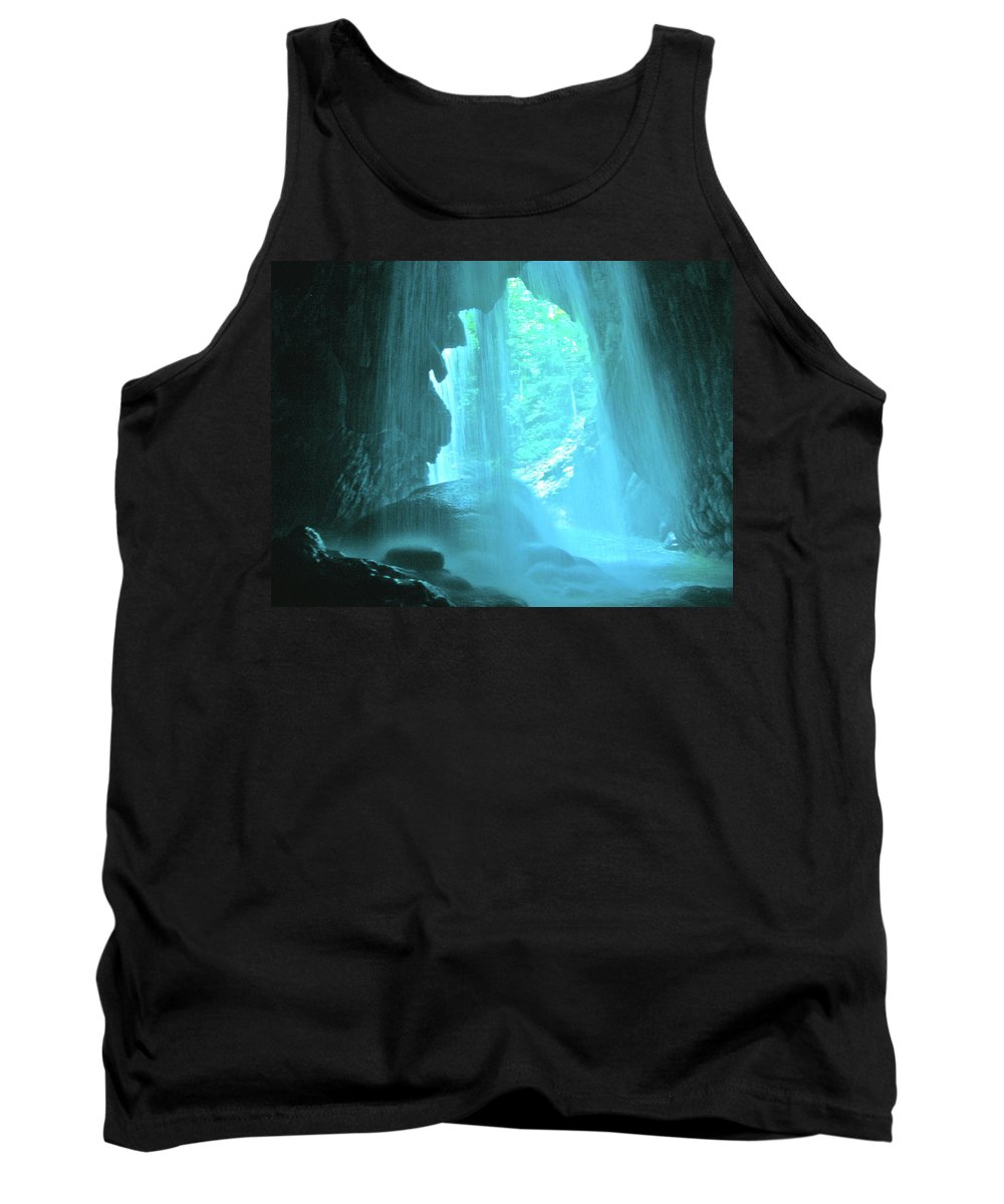 Waterfalls Tank Top featuring the photograph Jamaica Blue by Carey Chen