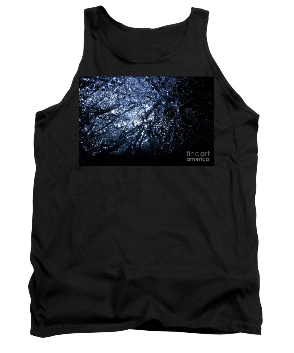 Gray Tank Top featuring the photograph Jammer Blue Hematite 001 by First Star Art