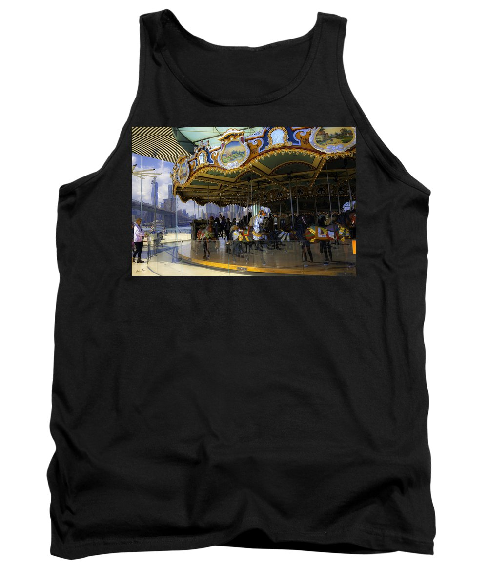 Carousel Tank Top featuring the photograph Jane's Carousel 1 In Dumbo by Madeline Ellis
