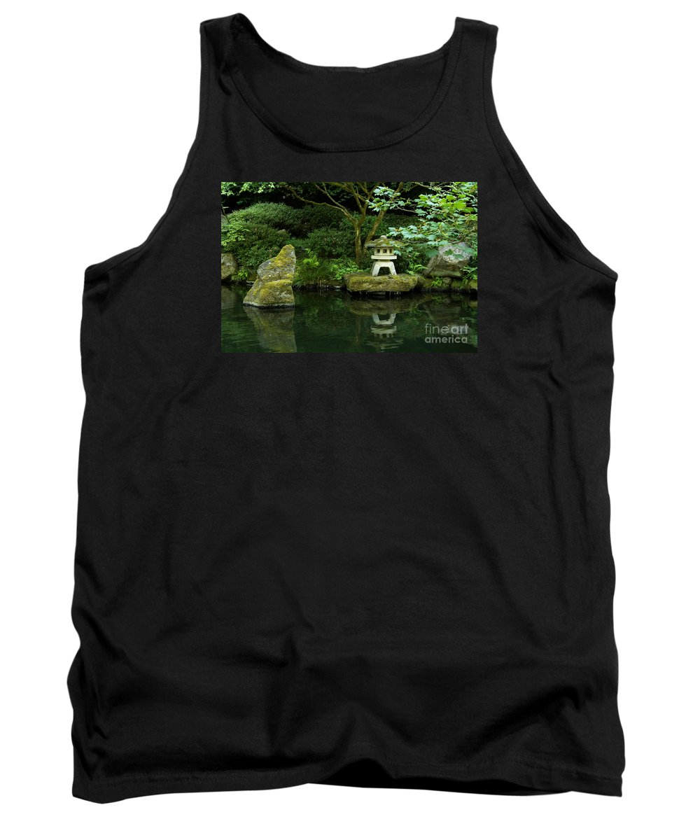 Gardening Tank Top featuring the photograph Japanese Garden Calmness by Christiane Schulze Art And Photography