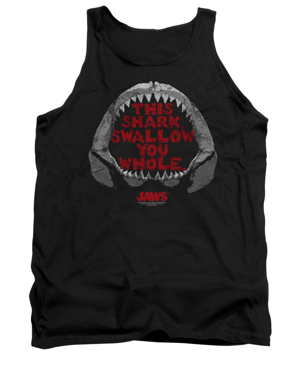 Jaws Tank Top featuring the digital art Jaws - This Shark by Brand A