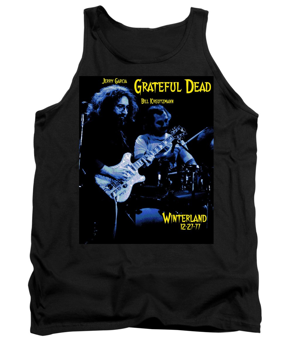 Grateful Dead Tank Top featuring the photograph Jerry And Billy At Winterland by Ben Upham