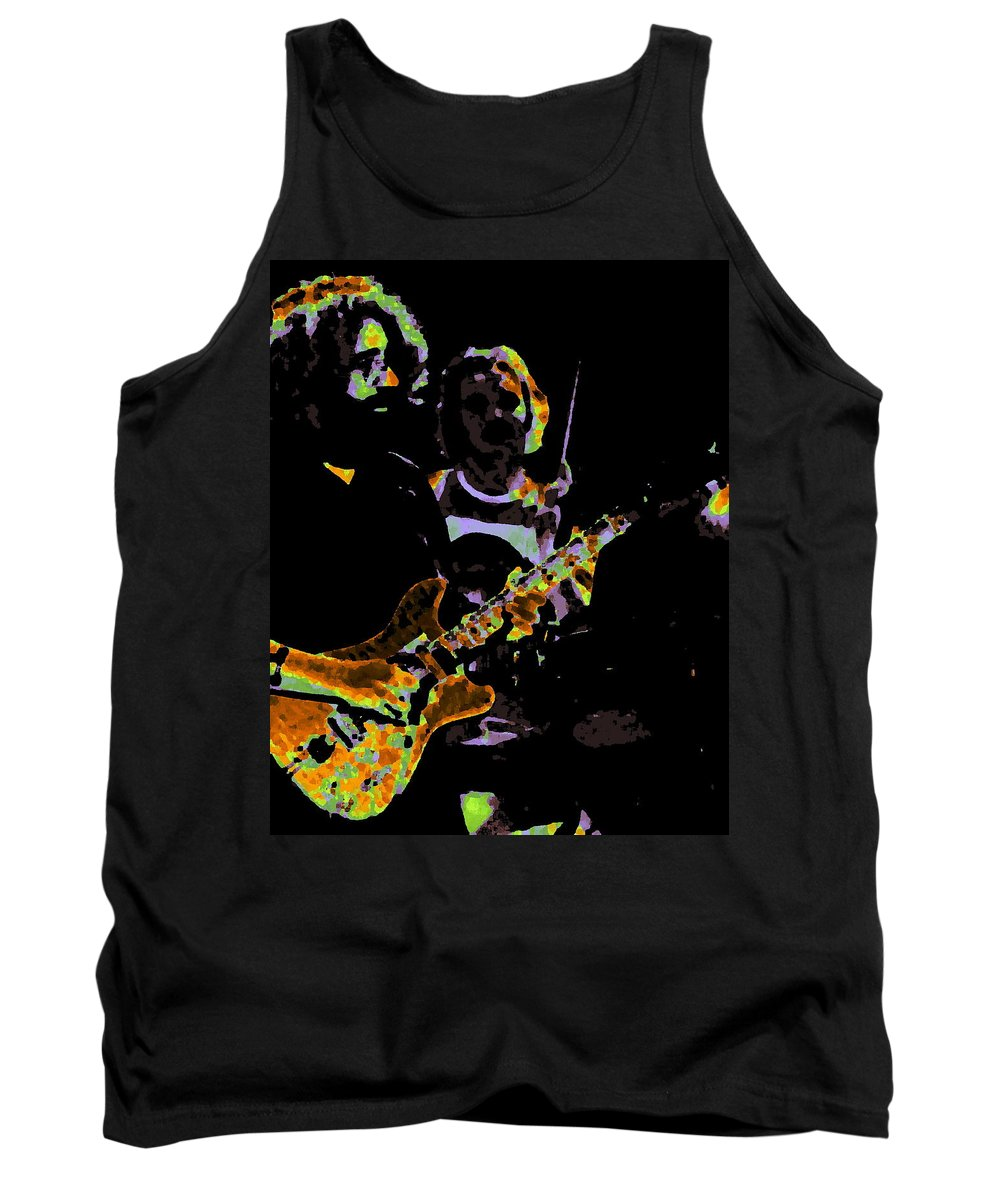 Grateful Dead Tank Top featuring the photograph Jerry Gets Psychedelic At Winterland by Ben Upham