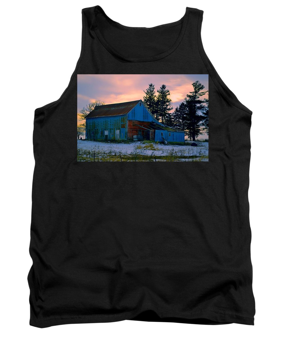 Rustic Tank Top featuring the photograph Jersey Avenue Metal by Bonfire Photography