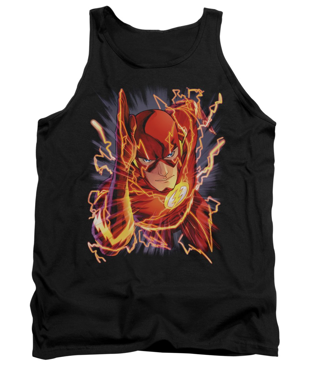 Justice League Of America Tank Top featuring the digital art Jla - Flash #1 by Brand A